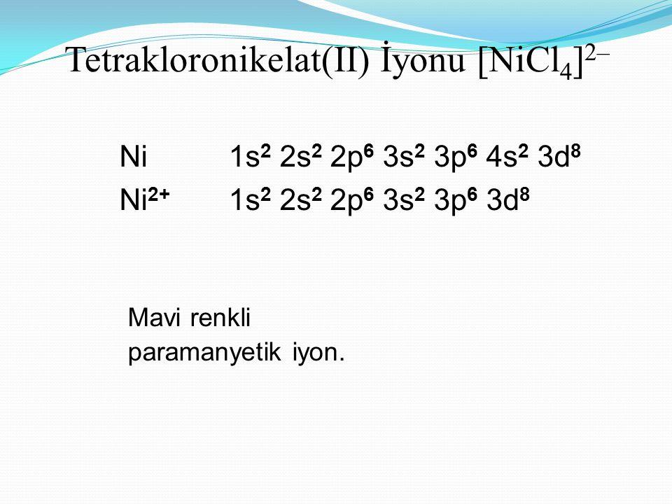 Tetrakloronikelat(II) İyonu [NiCl4]2–